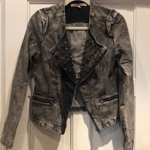Amazing rock and roll studded jeans jacket